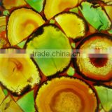 Semi Precious Stone Multicolor Agate Slab For Home Decoration
