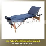 3 sections portable folding adjustable wooden massage table