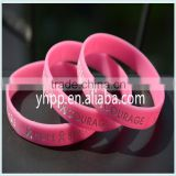 Custom cancer hope strength medical alert silicone wristband Adult bracelet charity