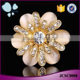 Jewelry wholesale China multifunctional zinc alloy full jewelled opal scarf clip brooch