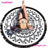 2016 Multicolor Yoga Mat Women's Beach towel Womens Blanket Table Cloth Round Beach Pool Home Shower Towel