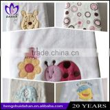 China supplier super soft coral volvet children blanket embroidery animal coral fleece baby blanket