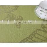 PVC Woven Jacquard Placemat, Anti-slip Table Mats