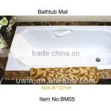 Soft PVC Foam Anti slip pvc bath mat with suction cup