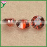 wholesale price red garnet cut colored cubic zirconia stone, cubic zirconia stones round
