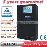 3 phase output ups system 10-1000 kva high PF 0.99 vac 380/400/415Vac three phase in/out with transformers