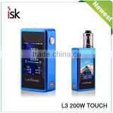 2016 Latest box mod tc electric cigarette machine LAISIMO Touch 200w china made