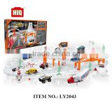 High quality city tracks train toys, metal BO racing car series