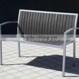 Foshan factory outdoor indoor wpc furniture---wholesale garden park beach wpc double benches
