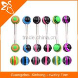 2016 fashion acrylic ball barbell tongue fake magnetic piercings body jewelry