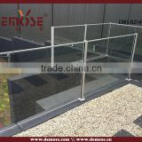 modern design glass railing with anchor