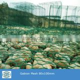 PVC coated wire hot dipped galvanized wire galfan wire Gabion Mesh With stone for protection