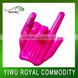Promotional Pink Football Fan Plastic Inflatable Hand Clapper