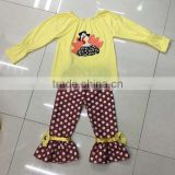Halloween 2 pcs cotton baby western girl boutique outfit child costume chicken decorative infant outfit