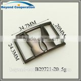 20mm high quality black powder coated metal zinc alloy shoes buckle accessories
