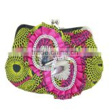 Sexy ladies party clutch bag with flower stones wholesales