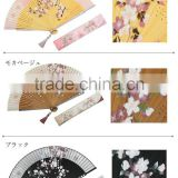 Chinese elegant spun silk hand fan with bamboo handle personalized hand fan