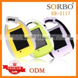 SORBO Christmas Gift Portable Solar Power Bank for Mobile Emergency Solar Cell Phone Charger with Mini LED Flashlight