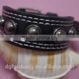 Stainless Ball Leather Bracelet Pin Buckle Closure