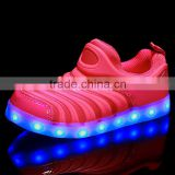 2016 Newest Popular LED sport shoes, Wholesaler of Red/blue/black Light shoes for running,USB Charger Led sneaker shoes