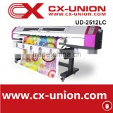 hot sale 4 color Digital banner printing machine Galaxy UD-2512LC Pvc card printing machine