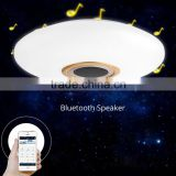 Smart Bluetooth Wireless Speaker Ceiling LED Light Lamp Controled by APP and Remote Control