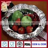 vintage round fruit trays silverplate dish for bar sterling silver tray das Tablett serving trays for hotel banquet