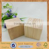 Art & Craft Wooden Cubes Natural Unfinished Building Cube DIY Blocks