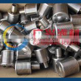 stainless steel 316 Johnson type wedge wire screen filter nozzles with slot 0.25mm for water treatment