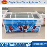 glass door chiller and freezer supermarket freezer showcase ice cream chest freezer 538L
