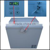 2014 NEW Model LED TEMP. Control DC Power 12V 24V DC Compressor Freezer with Strong Door Lock
