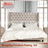 Gold Supplier durable moistureproof queen platform modern fabric bed