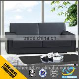 2016 modern design 1+1+3 black genuine italian leather office reception sofa set no leg sofa furniture