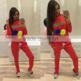 Professional Ladies Tracksuit Sweatshirt / Training & Jogging ladies track suit/ women trouser and shirt tracksuit set