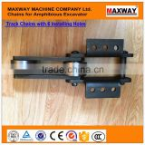China Wearable Chains and Track Shoes for CAT Swamp Buggy Excavator , 40Cr Steel Material, MAXWAY Machine Company