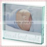 Square Glass Baby Boy Photo Frame For Family Souvenir