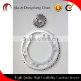 China zhejiang yongkang factory direct price competitive price150cc motorcycle chain sprocket and chain kit