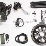Newest 8 fun/bafang BBS02 48v 500w mid central crank motor electric bicycle /bike conversion kit with battery
