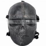 Anti-Bullet CS War game Paintball Masks, Airsoft Tactical Mask, Skull Ghost Horrible Full face mask with Mesh Goggle
