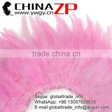 ZPDECOR Wholesale Bleached and Dyed LIGHT PINK Strung Chinese Rooster Saddle Wholesale Feathers