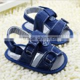 Denim cloth baby boy fashion sandals new design children todder shoes