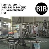 Fully-automatic 3-25L Bag in Box Water Wine Rum Alcohol Beverage Oil BIB Filling Machine and Packaging Line