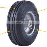Flat Free Solid Rubber Wheel 2.50-4 for beach wagon