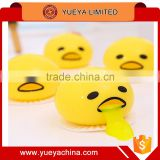 China goods wholesale Cute Funny Egg Squeeze Toys Suction Back Vomit Yolk Prank Release Pressure Ball