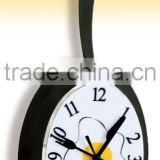 RH-4716 Novelty Egg shaped Metal Skillet Frying Pan Wall Clock