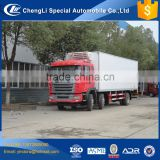 JAC 8 wheeler 6*2 new china 20 ton 25 ton cargo van refrigerated truck
