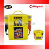 Three MultiFunction China Product Yellow Color Jump Start With Air Compressor and Spotlight