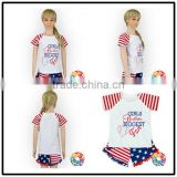 American Style Custom Print Pattern Design Wholesale Summer T-shirt Blank Toddler Clothing
