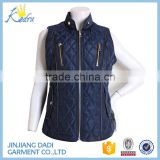 Woman Formal Sleeveless Jacket , Winter Padding Woman Vest For Sale
