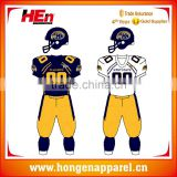 Hongen apparel heat transfer black American football jersey Capless sleeves football jersey